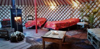 Bedden in Yurt